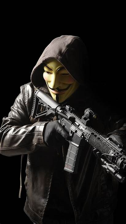 Anonymous Hacker Wallpapers Mobile Iphone Mask Soldier