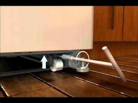 align level doors   french door refrigerator  adjustable rollers youtube