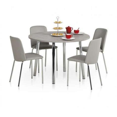 table de cuisine ronde en stratifi 233 elli 4 pieds tables chaises et tabourets