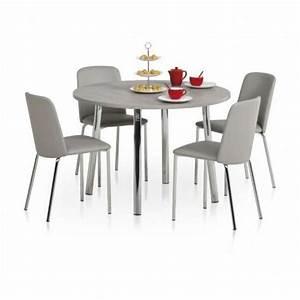 Table Ronde Cuisine : table de cuisine ronde en stratifi elli 4 ~ Teatrodelosmanantiales.com Idées de Décoration