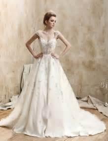 capped sleeve wedding dress looking uniquely with retro wedding dresses sangmaestro