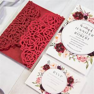 red wedding invitations online With diy red and gold wedding invitations