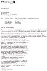 Insurance Claim Denial Letter Sample