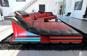 Sofa Dreams : xxl luxury sectional sofa turino cl with led lights red ~ A.2002-acura-tl-radio.info Haus und Dekorationen