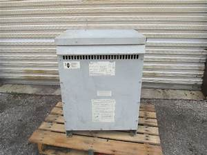 Ge 9t83b3873 480v Primary 208  120v Secondary Transformer 3 Ph 45 Kva