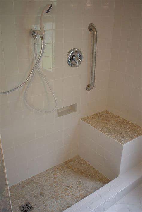 shower  custom designed  client  seat