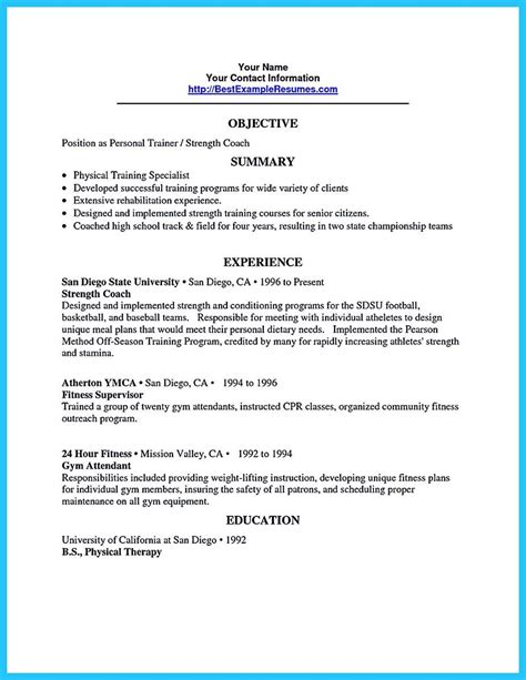 Resume Outline Sle by Awesome Writing Your Athletic Resume Carefully