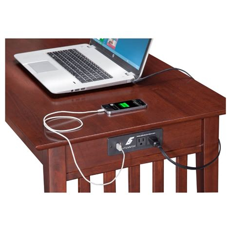 desk l with charging station mission office desk 1 drawer charging station dcg stores