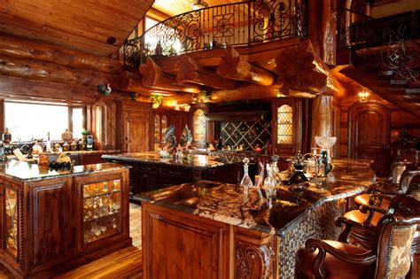 Log Cabin Kitchen Lighting Ideas by Awesome Log Cabin Rustic Kitchen Dallas By