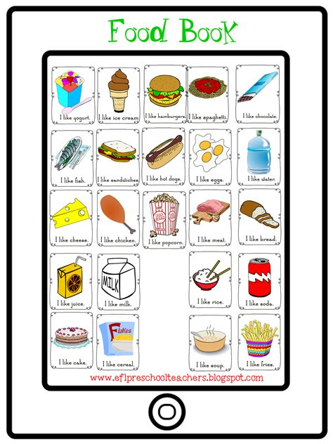 Eslefl Preschool Teachers Food Theme
