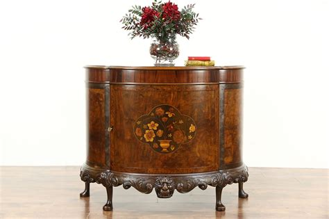 sold demilune   antique sideboard  hall