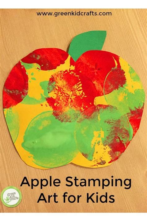 apple stamping for fall crafts 525   607ae50e4c138a050a706009772bf8f2