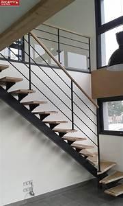 Garde Corp Escalier : escalier limon central mod le le fameux tecametal ~ Dallasstarsshop.com Idées de Décoration
