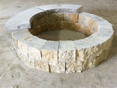 Natural Stone Fire Pit  Kits Or Custom Designs Lemke