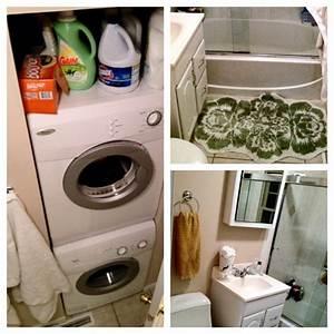 Small, Bathroom, Magic, Turned, Closet, Storage, Area, Into, Washer, Dryer