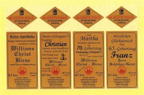 gustav mayer brennerei eichstaett wunsch etiketten geschenke