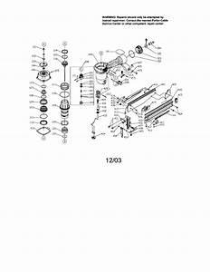 Finish Nailer Diagram  U0026 Parts List For Model Fn250b Porter