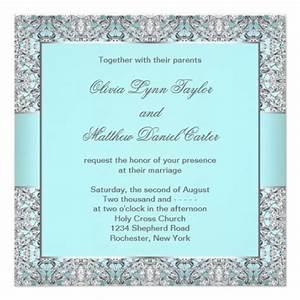 teal blue silver wedding 13 cm x 13 cm square invitation With zazzle wedding invitations samples