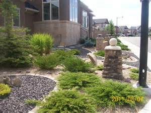 Low Maintenance Front Yard Landscaping with Rock