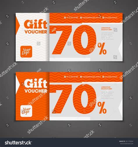 template promo code two coupon voucher design gift voucher stock vector