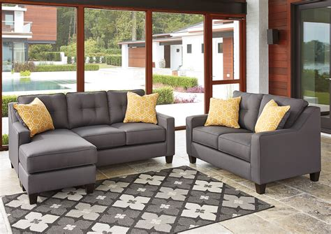 Gray Loveseat by American Furniture Design Aldie Nuvella Gray Sofa Chaise