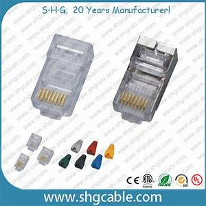 China 8p8c Network Cable Cat5e Cat6 Modular Plug Rj45
