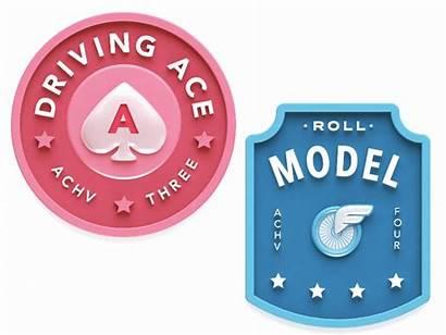 Ace Badges Driving Achievement Roll Dribbble Save
