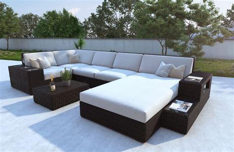 jardin contemporain avec mobilier rotin nativo meubles blog