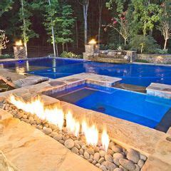 dream pool fire feature automatic pool cover tanning