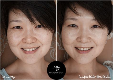 Harga Innisfree Oule Foundation innisfree water glow cushion before after2