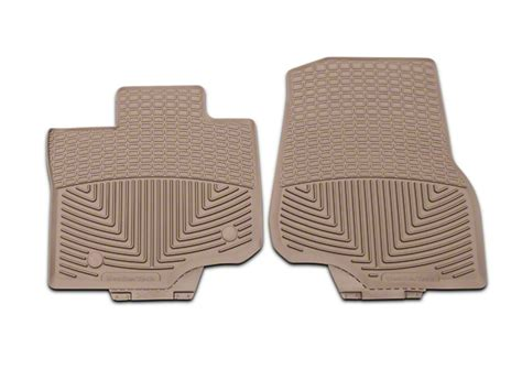 weathertech floor mats f150 supercrew weathertech f 150 all weather front rubber floor mats tan w345tn 15 18 f 150 supercab