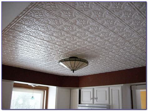 Pressed Tin Ceiling by Pressed Tin Drop Ceiling Tiles Tiles Home Design Ideas