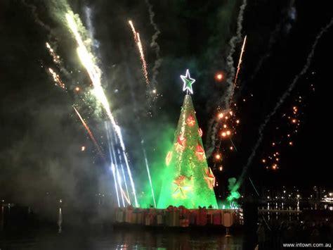 geelongs floating christmas tree intown geelong