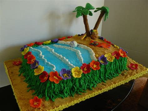 The Woodlands Cake Boutique Luau Themed End Of Year Party