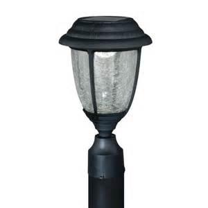 abra led 13 7 8 quot black solar outdoor post light at menards 174