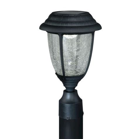 abra led 13 7 8 quot black solar outdoor post light at menards 174