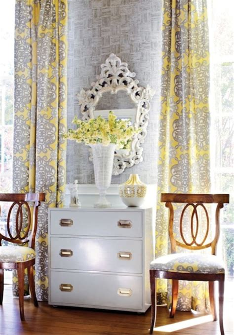 grey and yellow curtains yellow and gray curtains living room thibaut