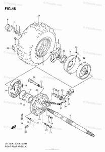 Suzuki Atv 2008 Oem Parts Diagram For Right Rear Wheel