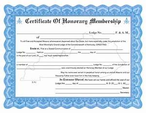 printable certificate membership template With honorary member certificate template