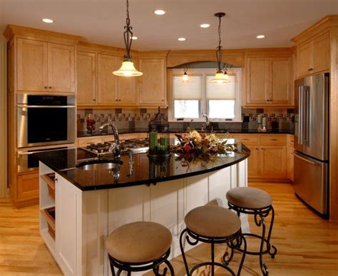 maple kitchen island black granite from custom stone interior similar to what ours will be with light maple