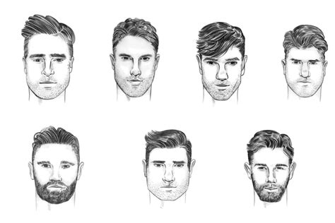 what hairstyle suits my face male how to choose a hairstyle for your face shape man of many