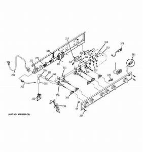 assembly view for manifold assembly zgu48n6rh5ss With manifold switch assembly diagram parts list for model b09j50020