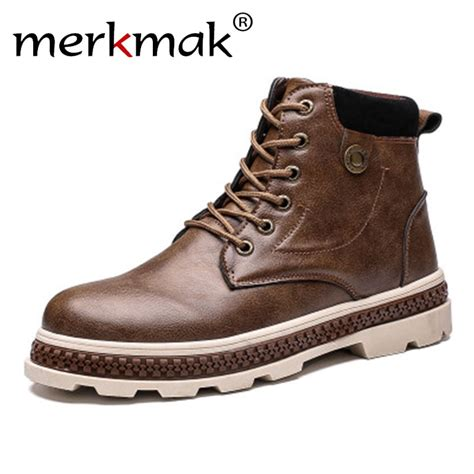 Merkmak Newest Classic Casual Men Boots Autumn Winter