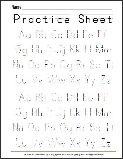 Print Abcs Dashed Handwriting Practice Worksheet …  Journaling Pinte…