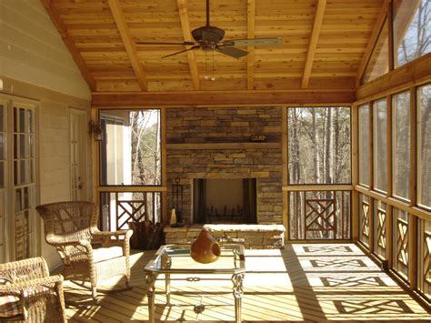 screened porch with fireplace st louis deck builders deck railing ideas by archadeck