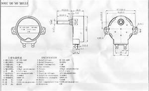 Micro Cw Ccw Free Rotation Ac Gear Motor With 2 5