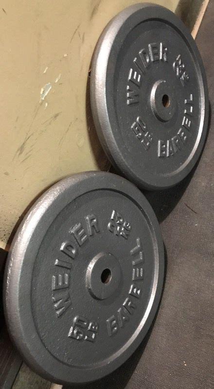 pair  lb weider standard weight plates  sale  el