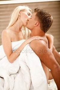 Man and woman during foreplay — Stock Photo ...
