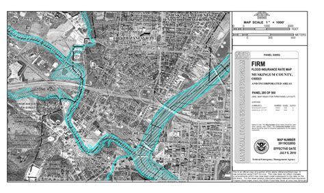 fema map  downtown zanesville ohio