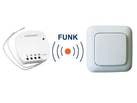 Lichtschalter Fernbedienung Nachrüsten by Funk Schalter Set Mini Funk Einbauschalter Funk